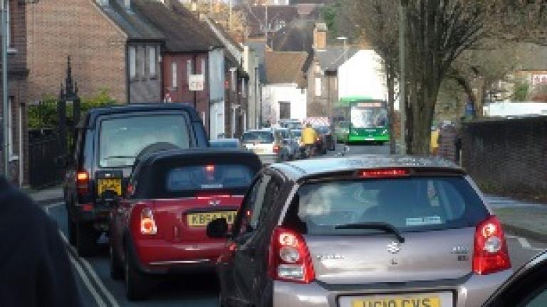 Traffic in Chesil Street by Phil Gagg
