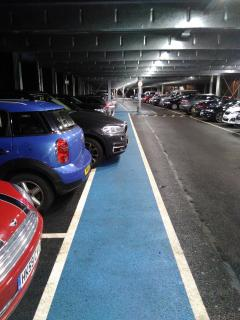 cars overhang footpath